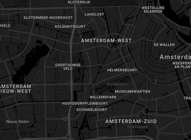 Map The Harbour Club Amsterdam Zuid